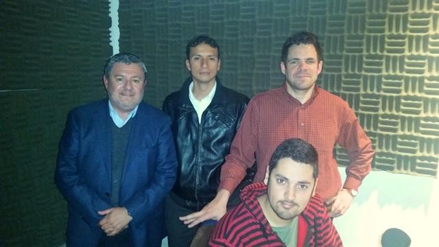 Claudio Reyes, Wilson Charry, Álvaro Álvarez y Gonzalo Aguirre
