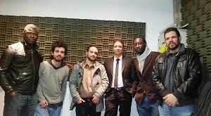 Adneau Desinord, Sebastián Garrido, Leonardo Polloni, Wilson Charry, Roody Jean Baptiste y Álvaro Álvarez