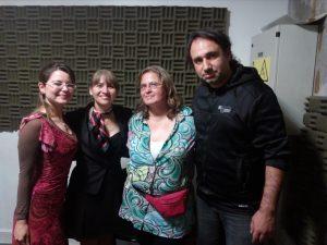 Cristina Bastidas, Silvia Mendoza, Valeria Bustos y Jorge Rizik