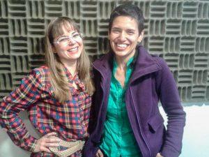Cristina Bastidas y Carolina Garzón (Foto Juan Vásquez)