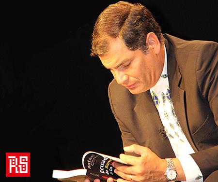 """Rafael Correa en su visita a Chile: """"Con parcialización hacia los pobres de la patria grande"""""""