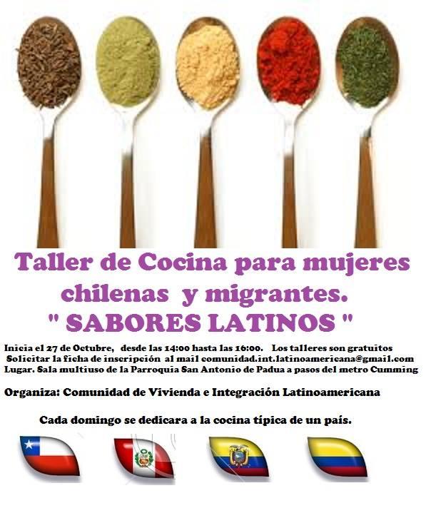 Taller de cocina «Sabores Latinos»