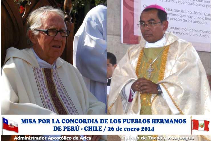 Obispos de Tacna y Arica presidirán misa por La Haya