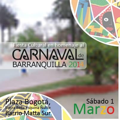 Carnaval de Barranquilla 2014 en Santiago