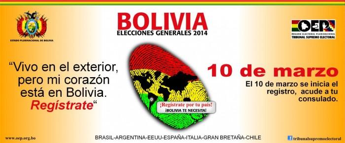 Consulado General del Estado Plurinacional de Bolivia llama a sus connacionales
