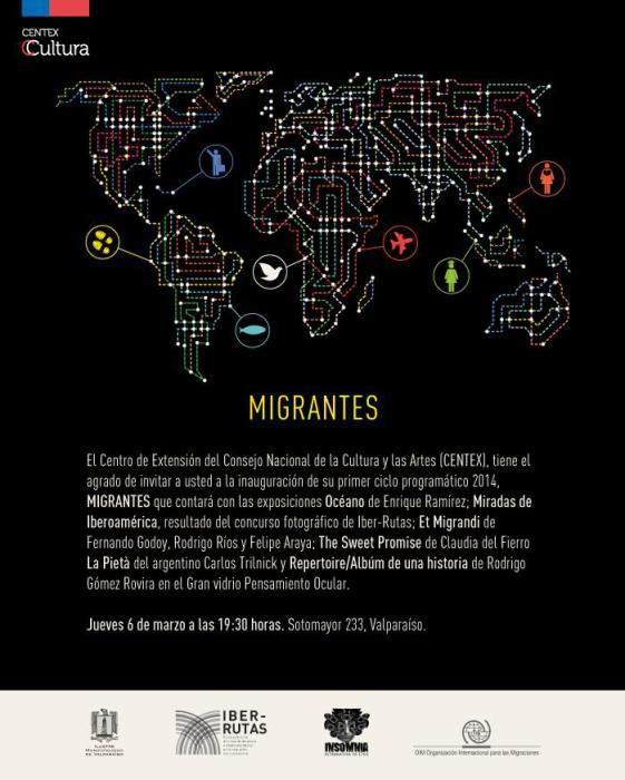 Ciclo expositivo Migrantes se instala en el Centex
