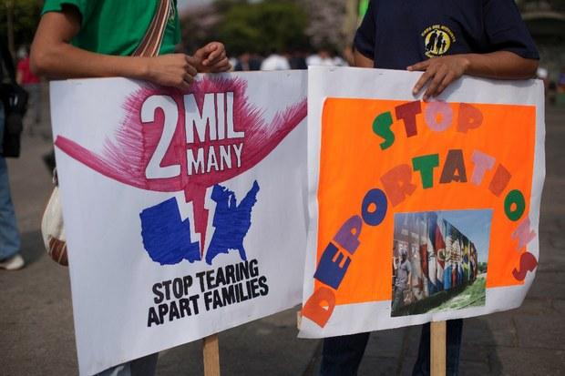 Protestas en EU para exigir a Obama que frene las deportaciones de migrantes
