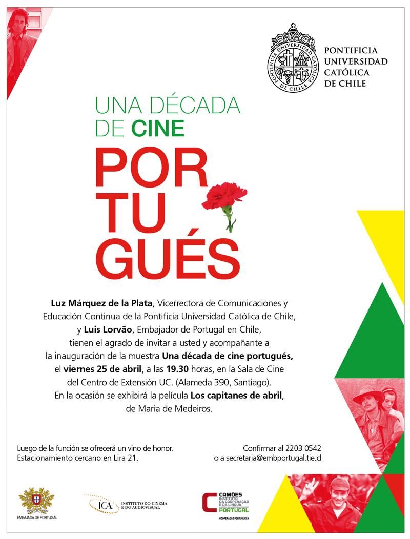 Inauguración de la Muestra de Cine Portugués en Santiago