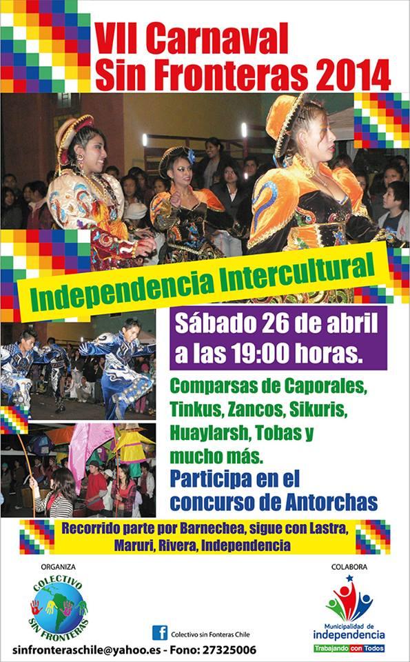 26 de Abril – VII Carnaval Sin Fronteras 2014
