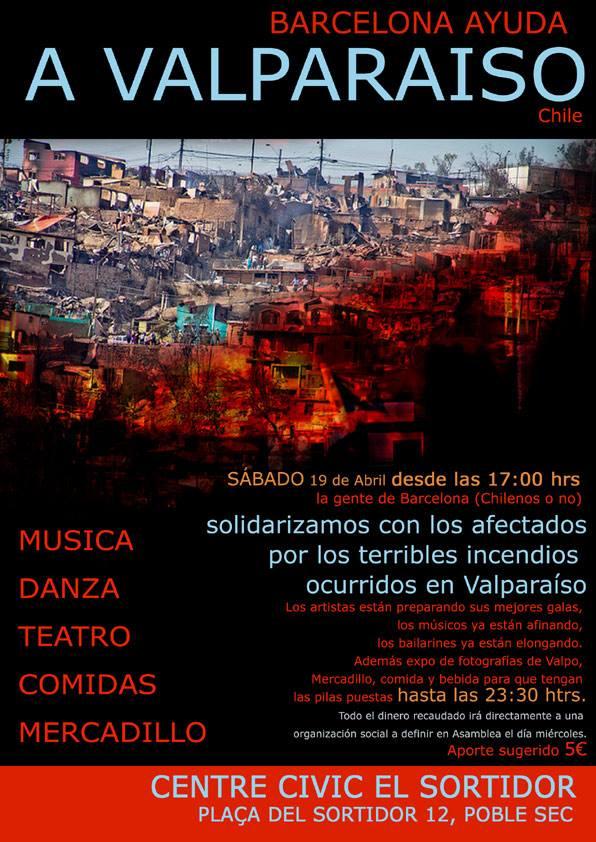 Barcelona ayuda a Valparaíso