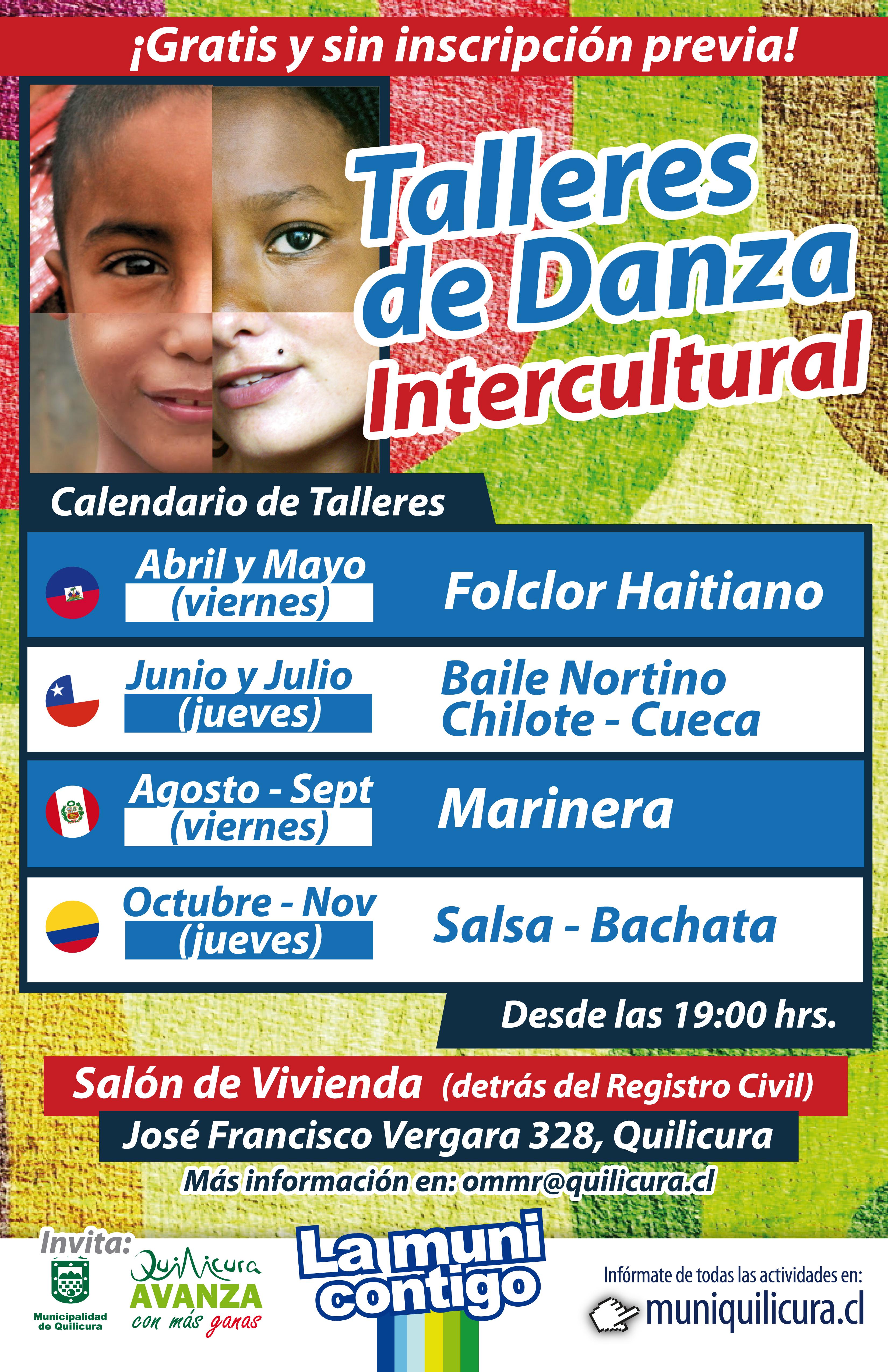 Talleres de Danza Intercultural en Quilicura