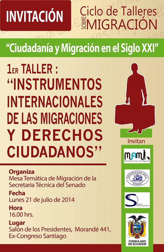 Ciclo de Talleres sobre Migración