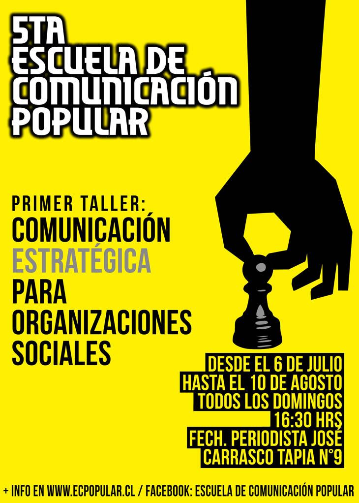 Inscripciones para el primer taller de la quinta Escuela de Comunicación Popular