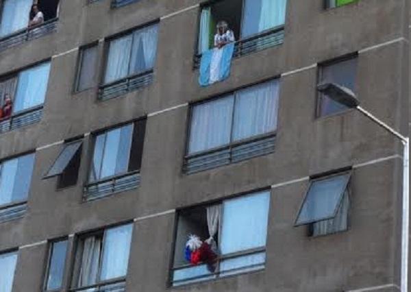 Copa América 2015: Ella, desde la ventana, en el día decisivo
