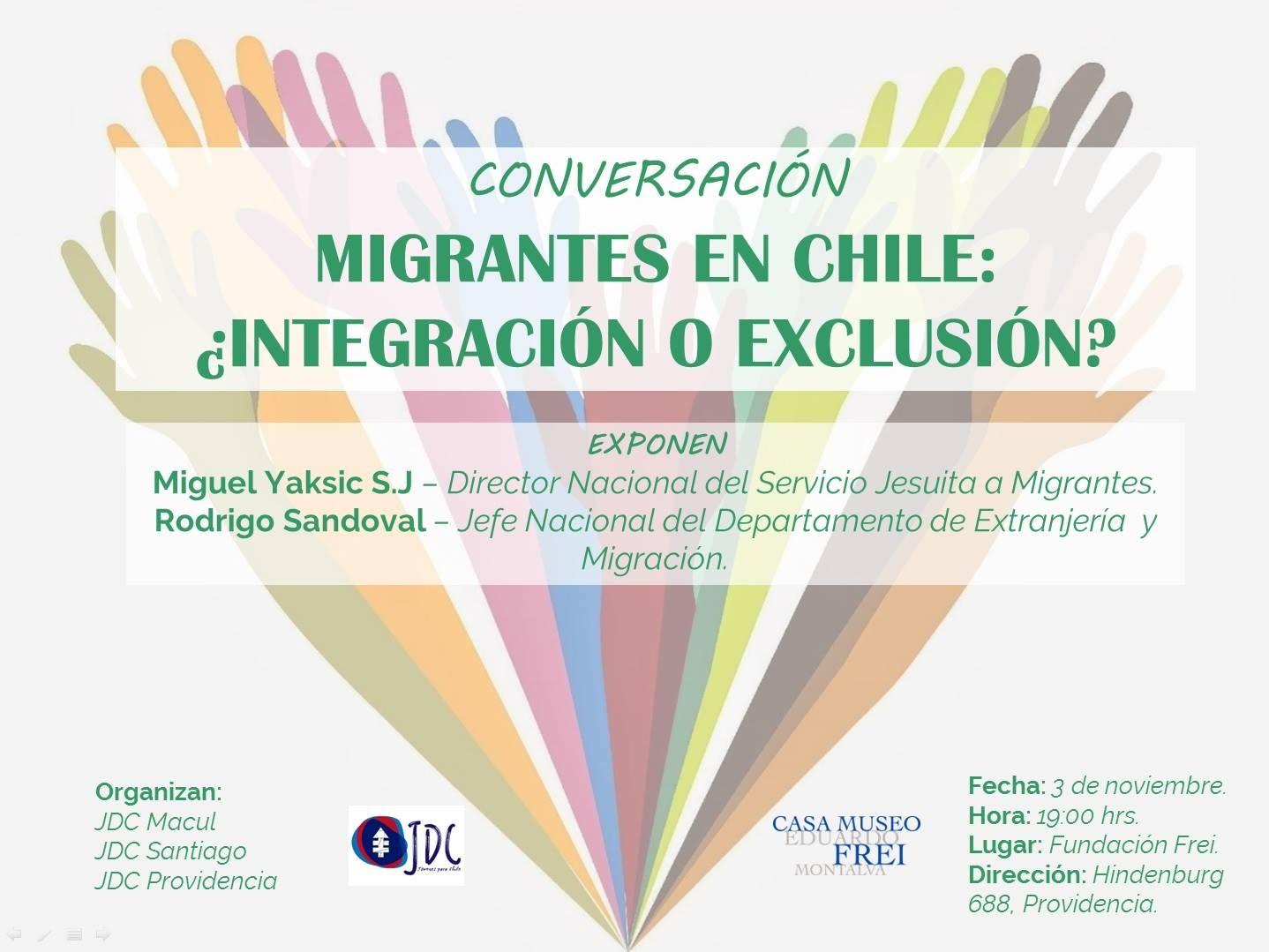 Conversación, Migrantes en Chile: ¿Integración o Exclusión?