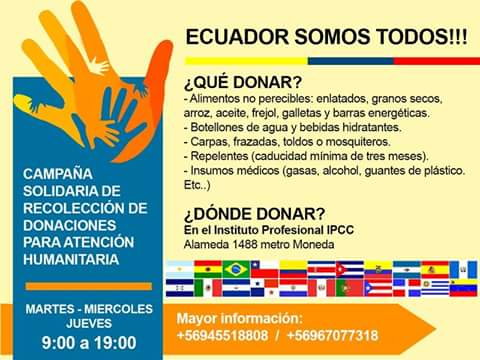Campaña Solidaria Ecuador Somos Todos