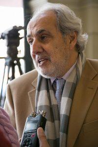Maurice Khamis, presidente del Club Palestino.
