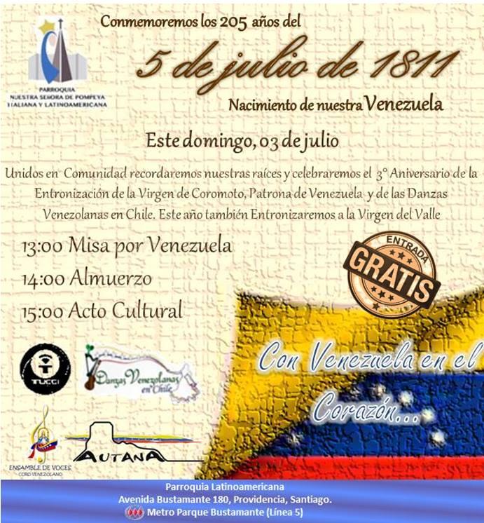 Conmemoración Aniversario Patrio de Venezuela