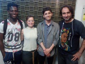 Steevens Benjamin, Cristina Bastidas, Juan Cáceres y Jorge Rizik