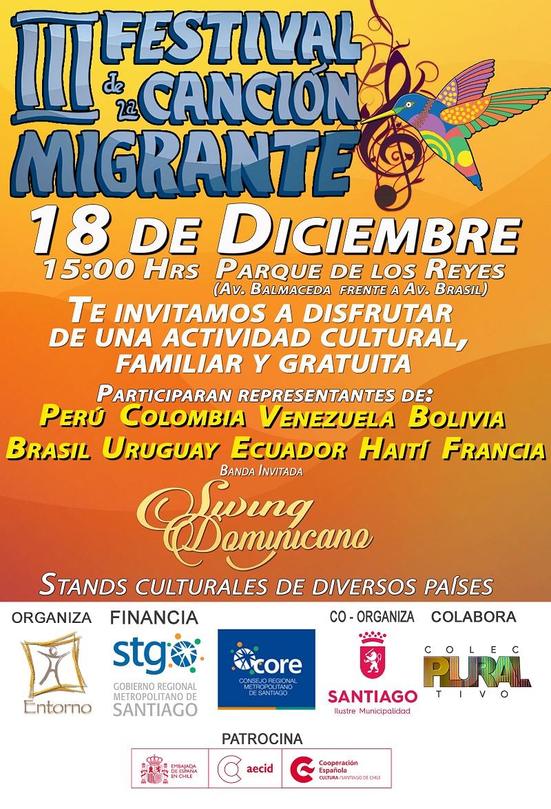 Todo listo para la tercera versión del Festival de la Canción Migrante