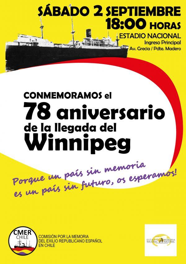 Conmemoran la llegada del Winnipeg a Chile