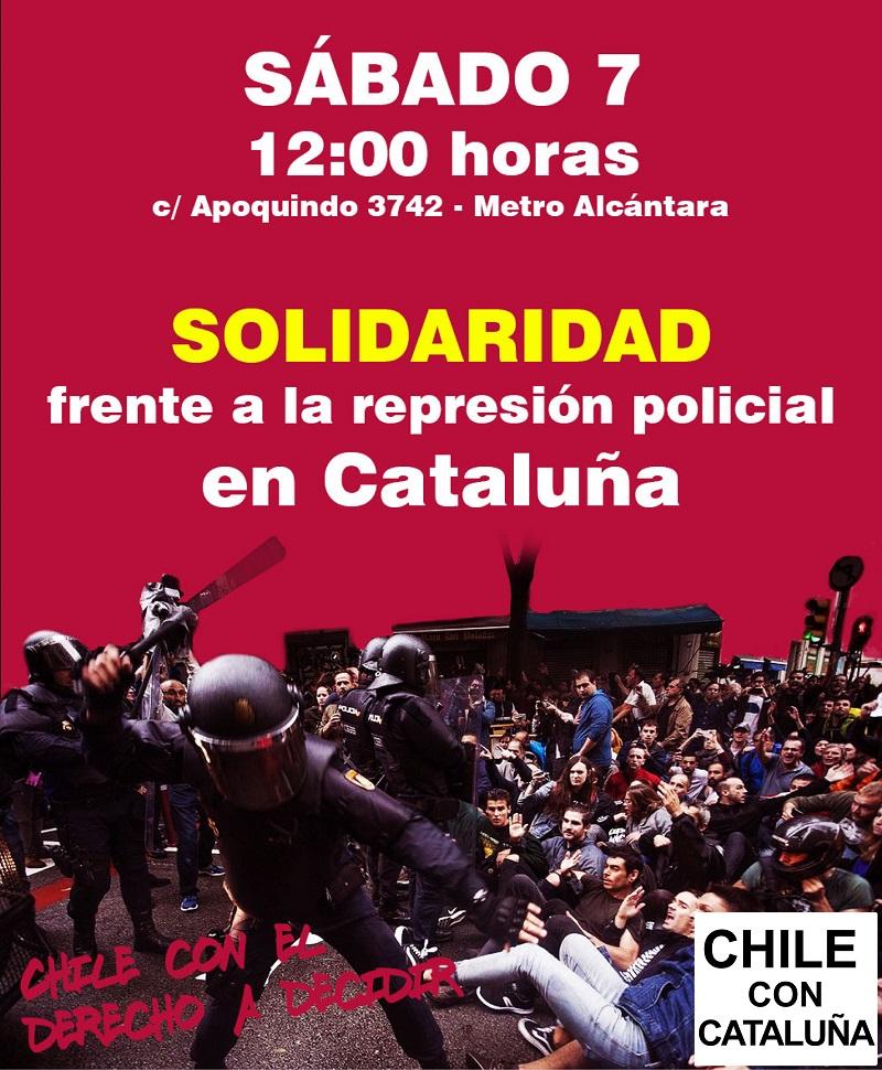 Concentración en solidaridad con Cataluña