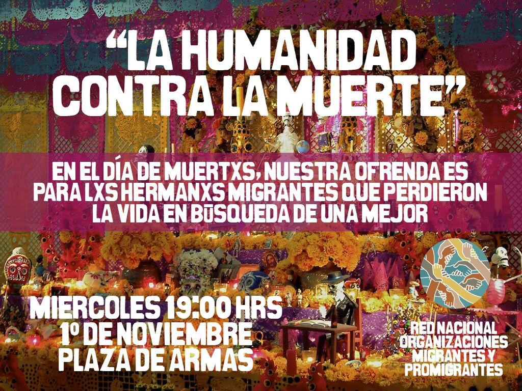 Convocan a conmemorar el 1 de noviembre en memoria de migrantes fallecidos por la violencia institucional