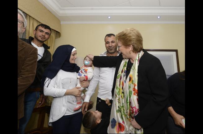 Refugiados sirios arribaron hoy a Chile