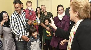 Refugiados Sirios y Feria de Servicios