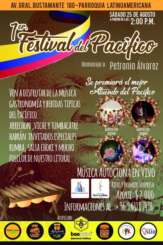 1° Festival Folclórico del Pacifico colombiano homenaje al Petronio Álvarez