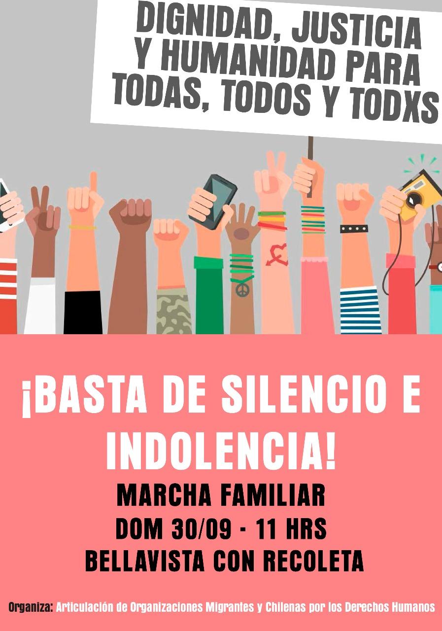 CONTRA EL RACISMO: DIGNIDAD, JUSTICIA Y HUMANIDAD PARA TODXS. BASTA DE SILENCIO, INDIFERENCIA E INDOLENCIA