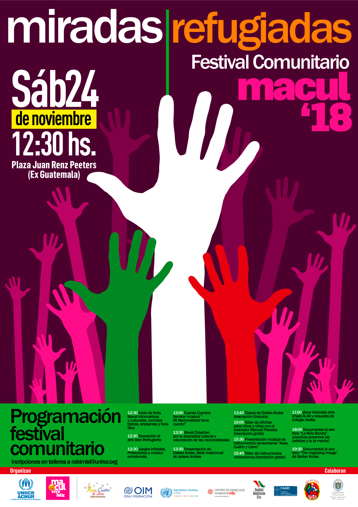 Festival comunitario en Macul celebrará la diversidad y valoración de las culturas