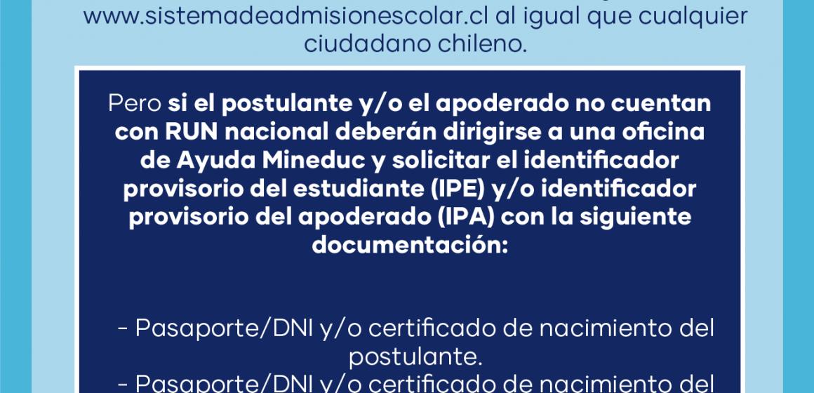 REQUIEREN RESOLVER OBSTÁCULOS EN ADMISION ESCOLAR DE ESTUDIANTES EXTRANJEROS