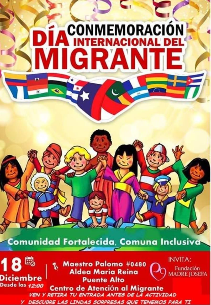 Fundación Madre Josefa conmemorará el día del migrante