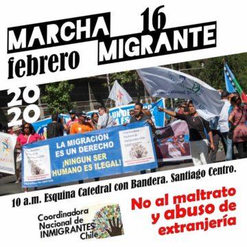 Marcha Migrante por la dignidad de los pueblos en Chile