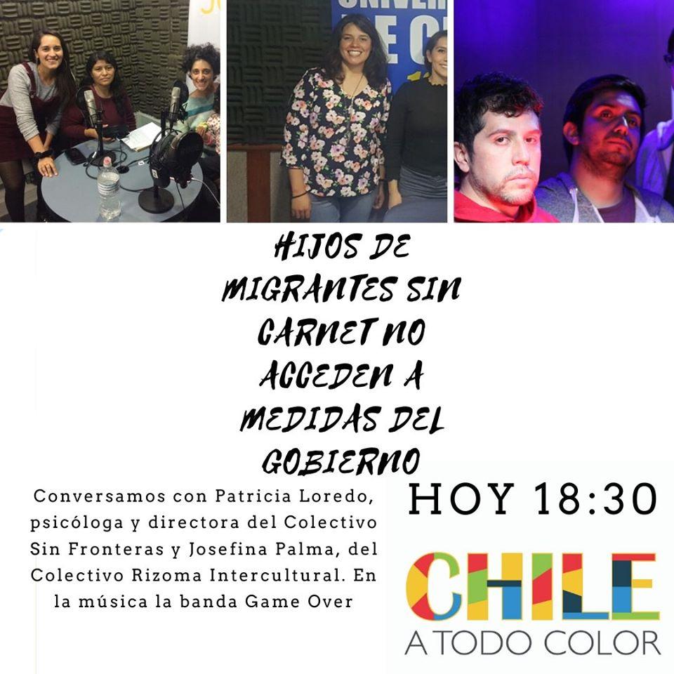 Chile a Todo Color en Cuarentena «Hijos de migrantes no acceden a medidas del gobierno»