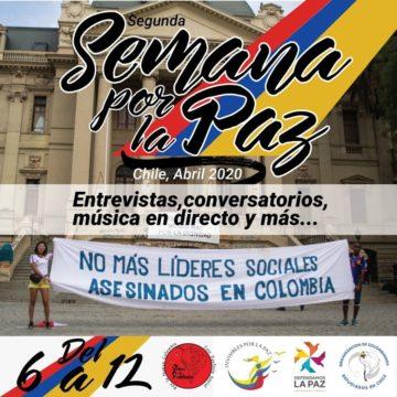 Colectividades colombianas en Chile realizan segunda Semana por la Paz en Colombia