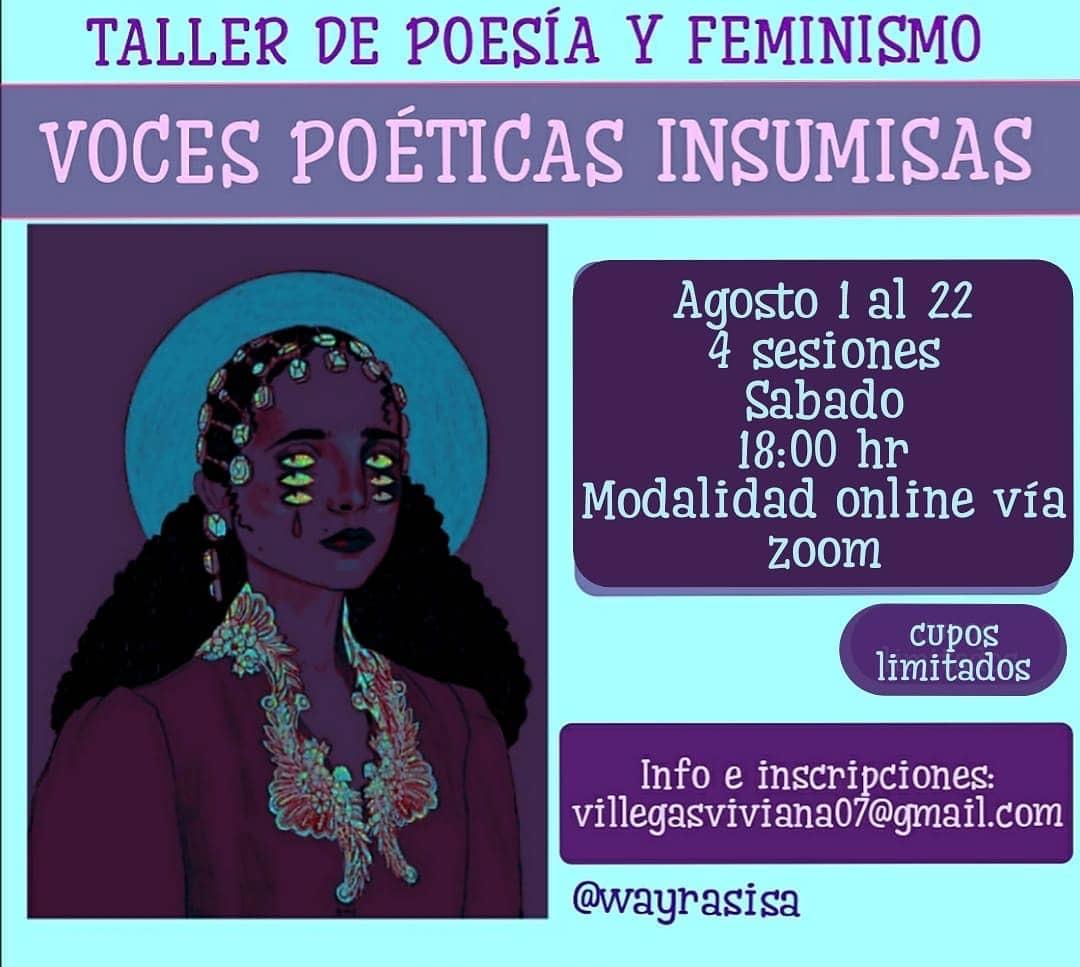 Taller de poesía y feminismo: Voces poéticas insumisas