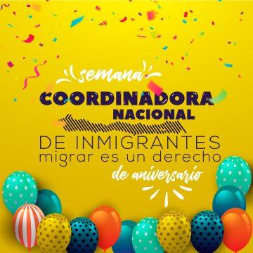 Coordinadora Nacional de Inmigrantes celebra con Semana de Aniversario