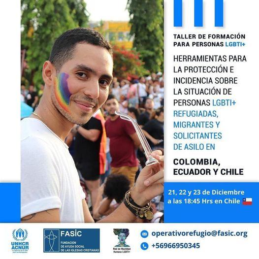 FASIC realizará la primera escuela de formación para personas LGBTIQ+ en Movilidad Humana