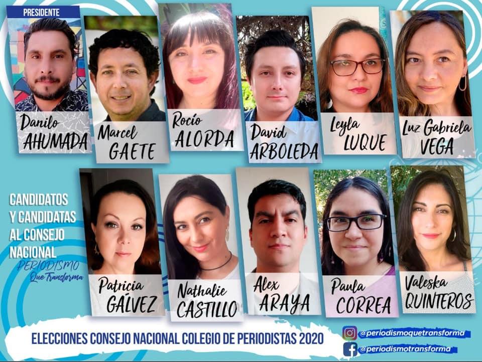 """Bajo el lema """"Periodismo que Transforma"""", candidatos y candidatas aspiran a liderar el Colegio de Periodistas"""