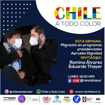 Chile a Todo Color: Migración en programas presidenciales Apruebo Dignidad
