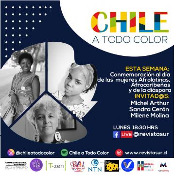 Chile a  Todo Color: Día de las Mujeres Afrolatinas, Afrocaribeñas y de la Diáspora